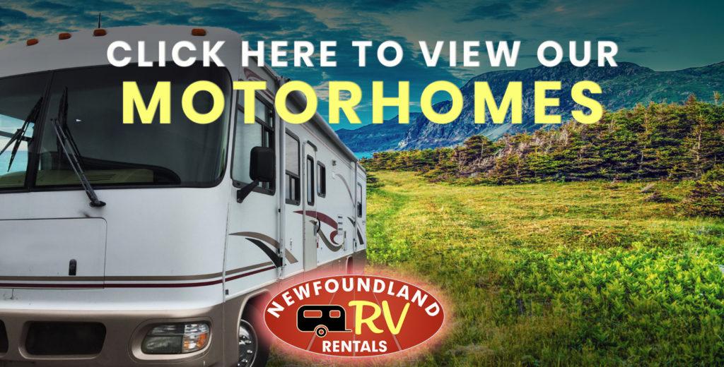 Newfoundland RV Rentals | Motor Home, Travel Trailer, RV