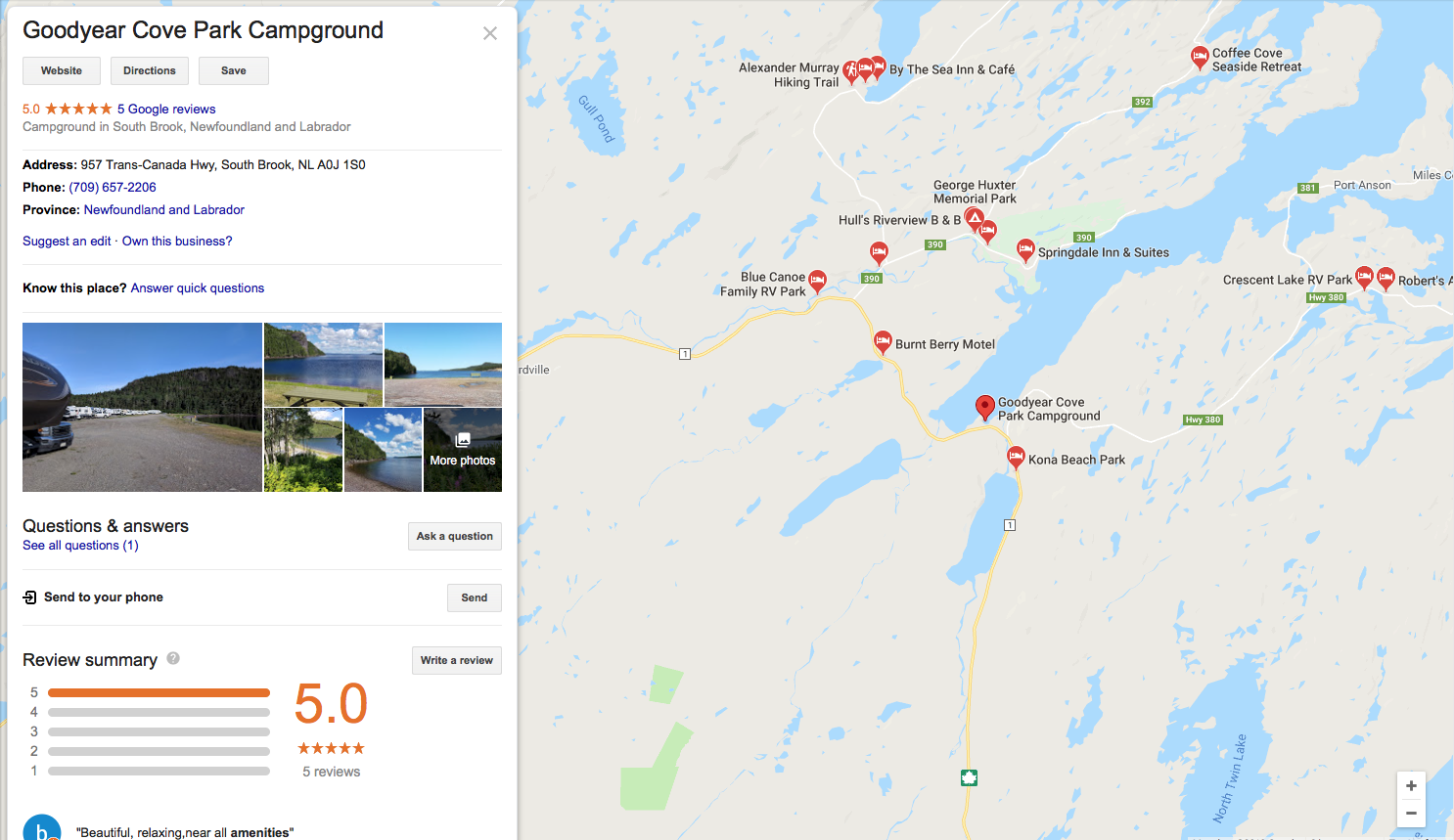 Campgrounds and RV parks in Central Newfoundland : Part 4